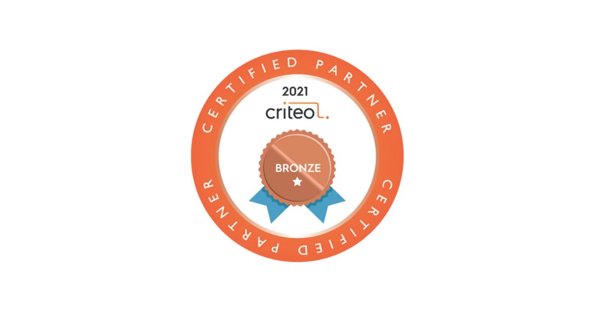 Criteo Certified Partners Bronze